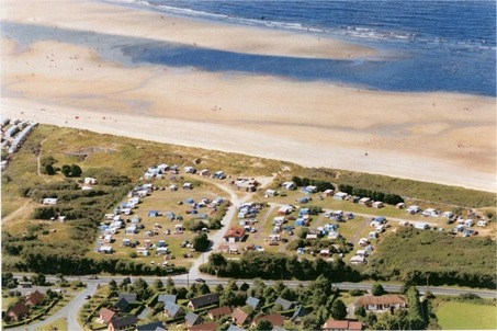 camping de la mer franceville merville vue aérienne